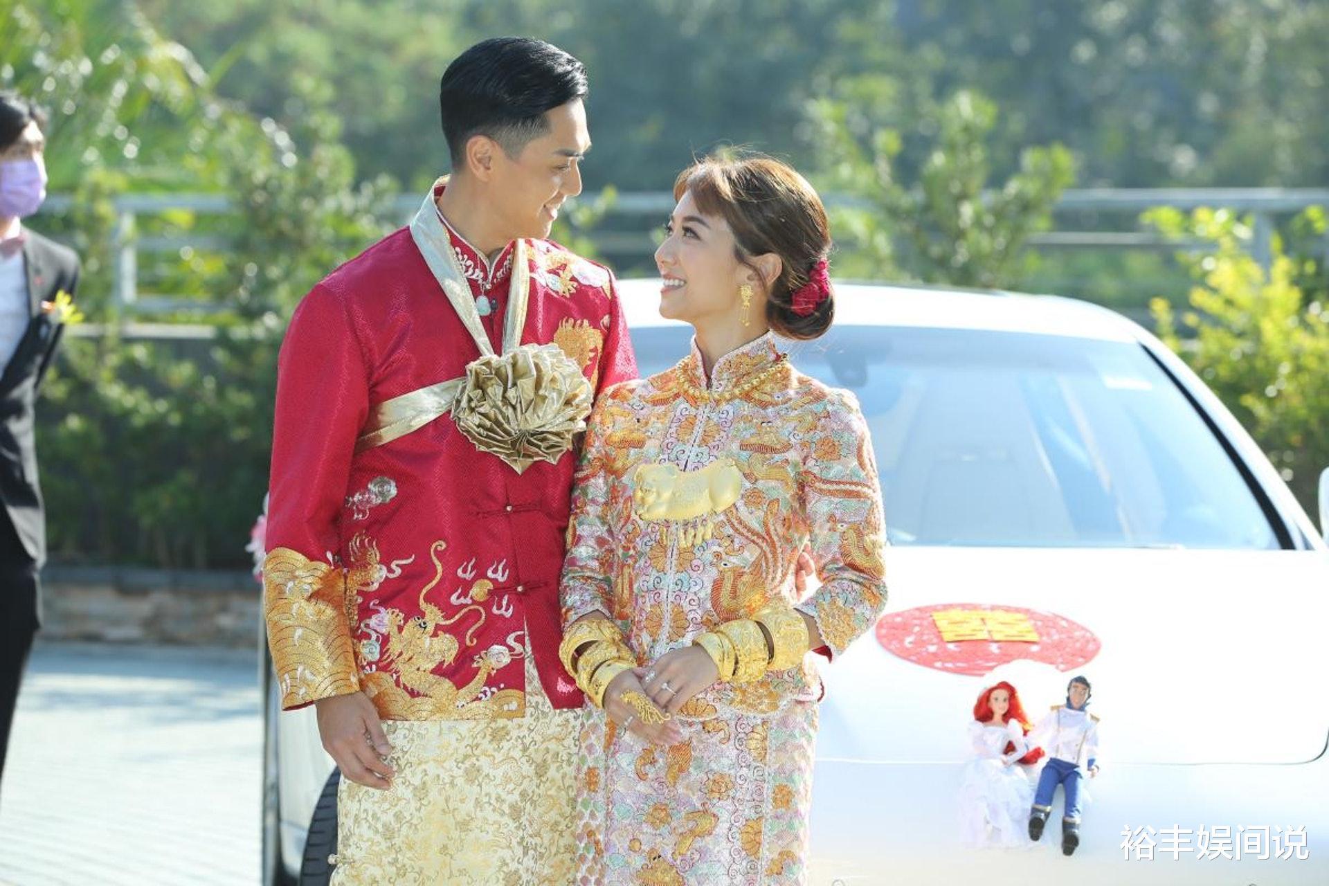 恭喜!TVB小花何雁詩今日出嫁,戴三對大龍鳳鐲,頸掛一隻大金豬-圖8