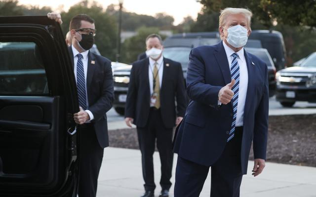 """特朗普出院瞭!住院治療僅3晚""""閃電離開""""重返白宮-圖2"""