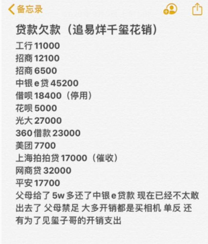 The Female Fan Blew Herself Into A Crazy Star Chasing History To Chase Yi Yi Qianxi She Owed 200 000 Yuan In 2 Years Electrodealpro