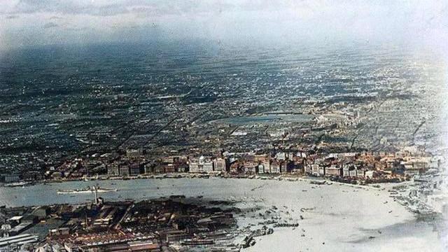 1926年上海航拍老照片,城市街頭景象流出!看下這些場景你認得不