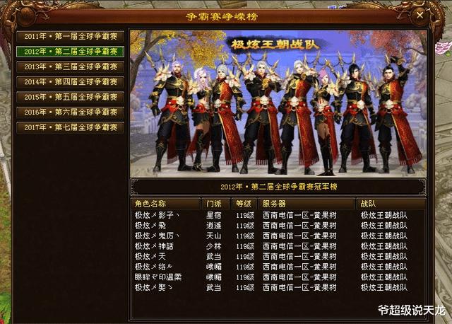 """天龙八部全球争霸赛,史上最强黑马战队,""""逆转奇迹""""极炫王朝"""