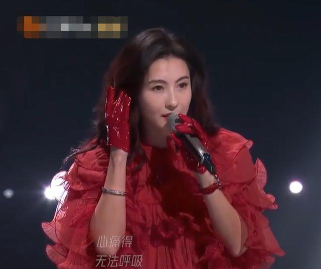 回憶殺!張柏芝《浪姐2》唱星語星願,紅裙絕美聲音沙啞唱哭呂一-圖2