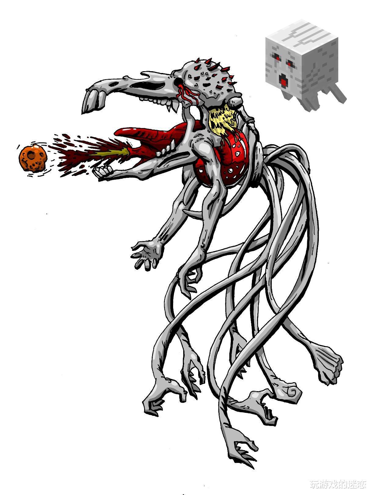 我的世界:八種生物去方塊化,效果怎麼樣?玩傢:MC是個恐怖遊戲-圖8